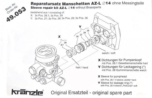 Rep-Satz Manschetten AZ-L 49.053