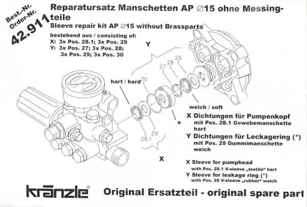 Rep-Satz Manschetten AP 42911
