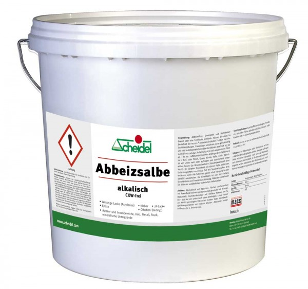 Abbeizsalbe alkalisch