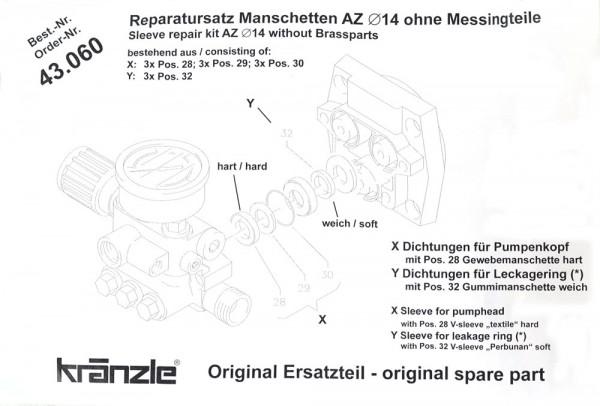 Rep-Satz Manschetten AZ 43060